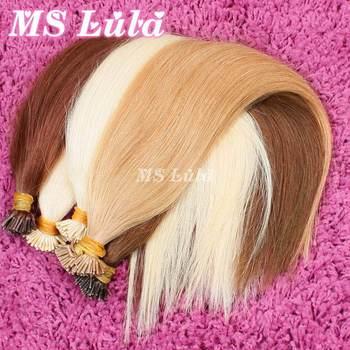 100% Remy человеческих волос бразильского виргинские реми волос я даю чаевые наращивание волос прямо 0.6 г/локон 100 строки / комплект предварительно скрепленные волосы