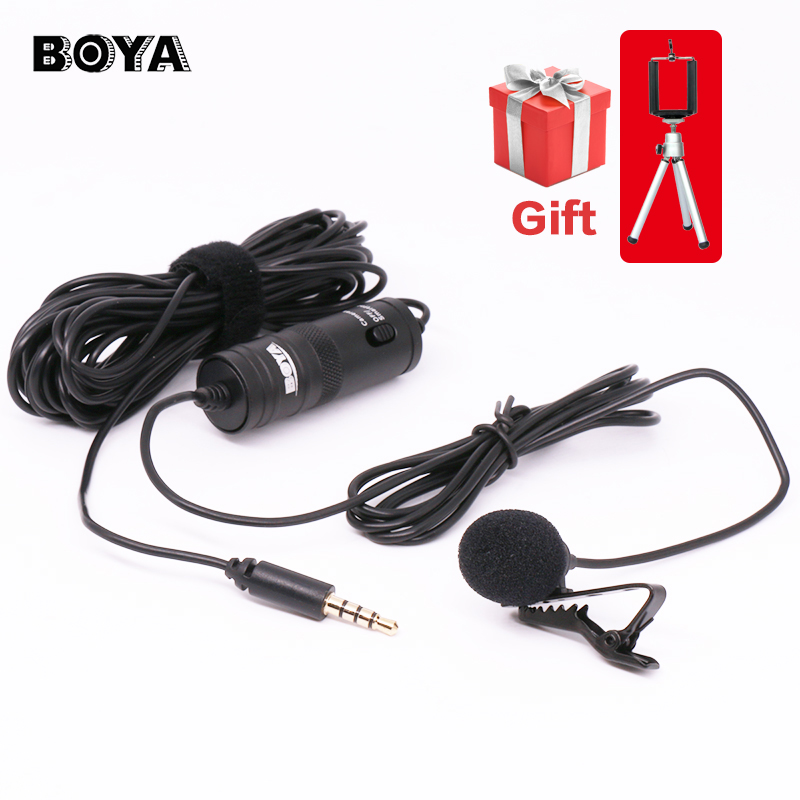 BOYA Lavalier Omnidirectional Condenser Microphone for Canon Nikon Sony,for iPhone 6s Plus DSLR Camcorder Audio Recorders BY-M1(China (Mainland))