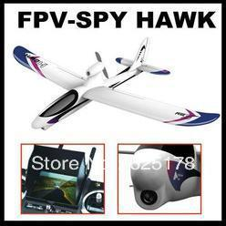 Remote control airplane 2.4G 4 channel FPV Hawk rc plane with 3.5 inch LCD controller, with camera Free Shipping by EMS