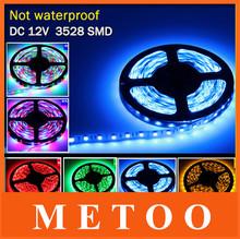 New Arrival 5M 300Leds Non-waterproof RGB Led Strip Light 3528 SMD DC12V Flexible Light Led Ribbon Tape Home Decoration Lamp(China (Mainland))