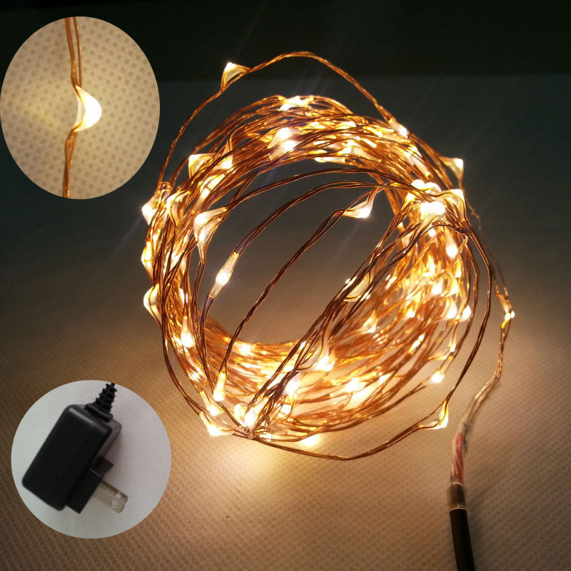 buy 6m 120 led copper wire mini string. Black Bedroom Furniture Sets. Home Design Ideas