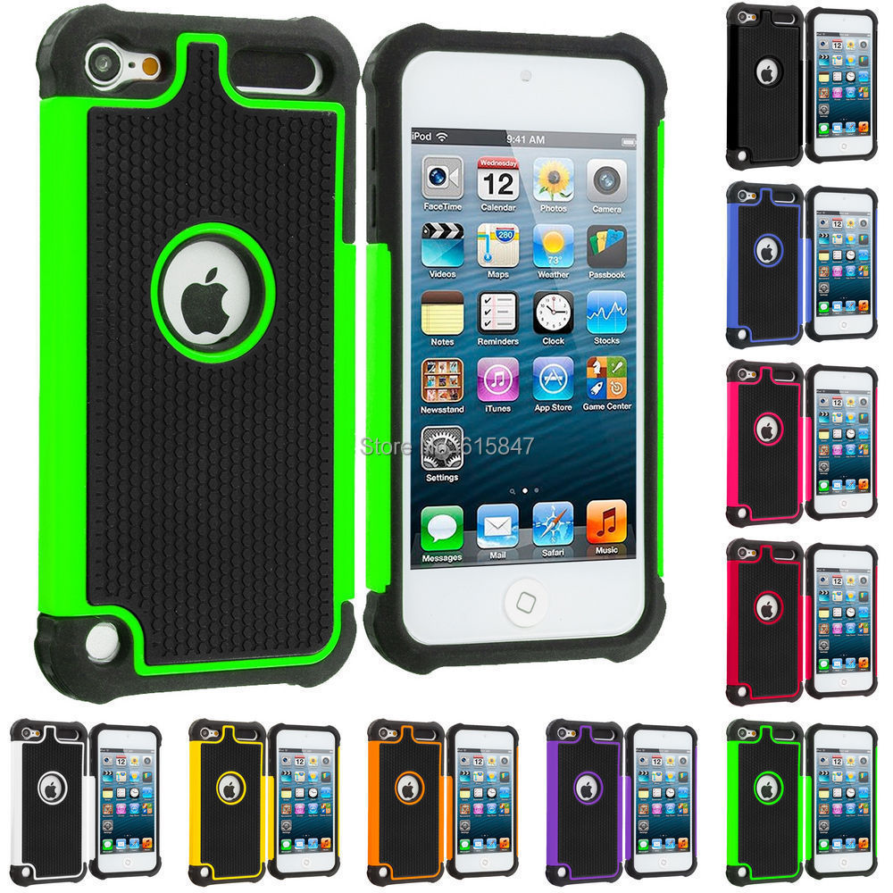 Hybrid Rugged Shockproof Hard Case Cover For Apple iPod Touch 5 5th 5G Gen(China (Mainland))