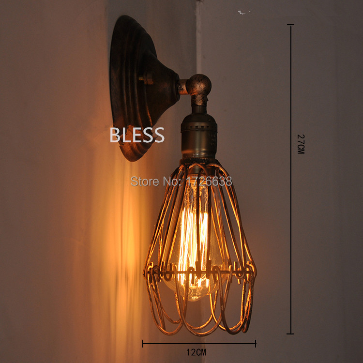 Louis Poulsen wall scone light E27 plated Loft american retro vintage iron wall lamp 110V-220V 40W Antique wall lamp industrial(China (Mainland))