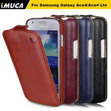 New designer IMUCA mobile phone bags&cases for Samsung Galaxy Ace 4 LTE SM-G313F cell phone smart flip leather case cover(China (Mainland))