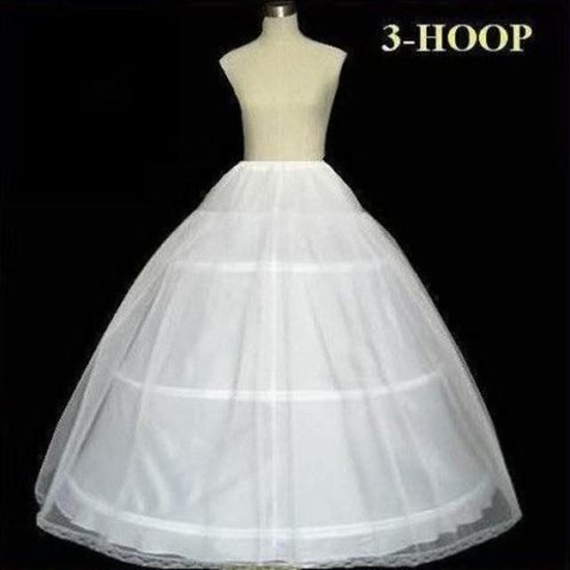 Свадьба аксессуары 3 обручи люкс юбке для A линия свадьба пром платья уникальный ...