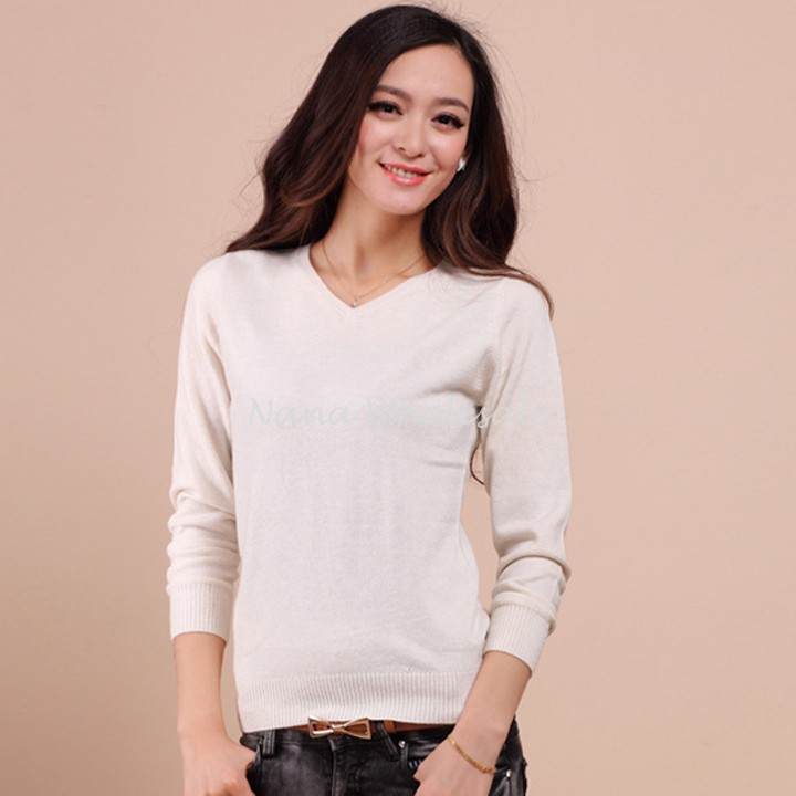 Hot Sale Autumn Winter 2015 Knitted Cashmere Sweater Women NEW European Style Women Fashion Outwear Pullovers 12(China (Mainland))