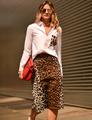 Blouse Women Tops 2016 long Sleeve Women animal print white Shirt Plus Size camisa Casual Lady