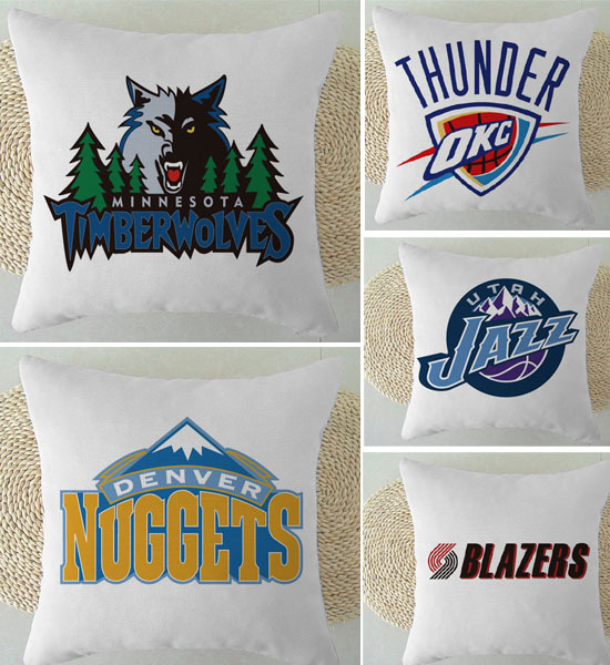 Northwest Division team pillow, Denver Nuggets/Minnesota Timberwolves/Trail Blazers/Oklahoma City Thunder/Utah Jazz(China (Mainland))
