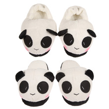 Women Ladies Soft Cute Panda Winter Warm Plush Antiskid Indoor Home Slipper Shoes pantuflas pantufa