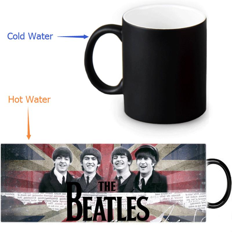 The Beatles magic color changing coffee tea milk mug cup funny novelty travel custom morphing mugs 12 OZ/350ml(China (Mainland))