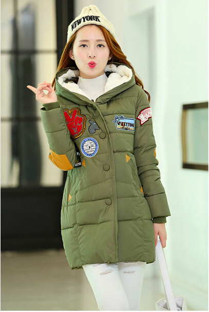 Winter Jacket Women 2015 New Fashion Long Military Green Parkas Womens Jackets Coats 2001 - newbrieflife store