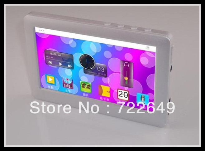 "30pcs Real memory 8GB MP4 MP5 Player T13 4.3"" HD Touch Screen Mp3 songs Video TV Out FM Radio E-book Game free by DHL(China (Mainland))"