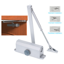 KKMOON Home Office Doors Stainless Steel Automatic Hydraulic Arm 45-65KG Mini Door Closer Mechanical Speed Control(China (Mainland))