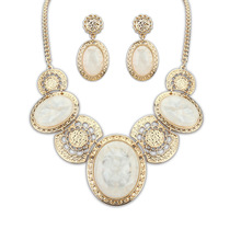 Sapphire Jewelry Limited Necklace/earrings Women Crystal Jewelry Sets Sapphire Temperament Of Se120 Palace Luxury Jewels Kit
