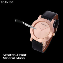 2016 men s watches minimalist large dial fashion casual quartz watches ultra thin rose gold clock