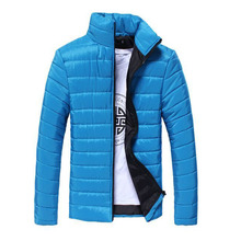New Fashion Solid Coat Jacket Men To Keep Warm Nine Colors In M-3XL JK-0137(China (Mainland))