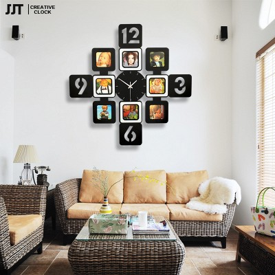 Individuality Creative Modern Living Room Wall Clock Picture Frame Mute Quartz Rural Decorative Clocks Watches - Fclbuy store