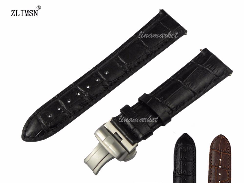 20mm 22mm Black crocodile grain Genuine Leather Watch Bands strap<br><br>Aliexpress