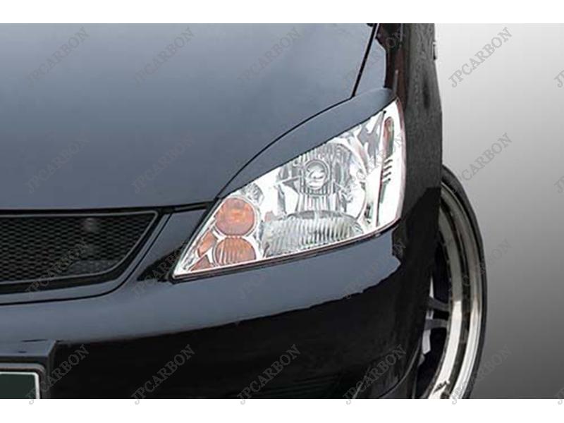 Unpainted-FIberglass-Headlight-Eyebrows-Eyelids-Covers-for-2004-2006-Mitsubishi-Lancer-VRX ...