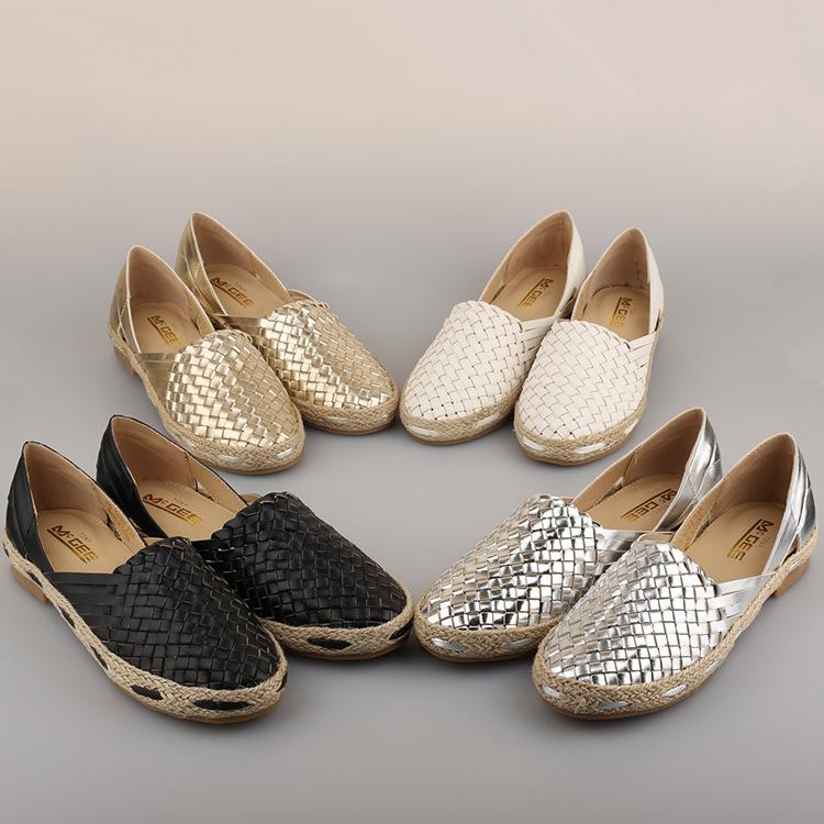 Size 35-40cm 2015 Summer Handmade Weaving Shoes Women Breathable Comfortable Fashion gym shoes Slip-On Sapato 4 colors