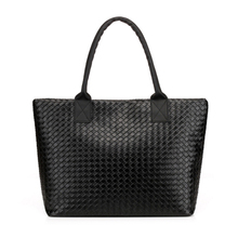 2016 Hot Selling Women's Handbag Pu Leather Tote Shoulder Bag Large Capacity Weave Messenger Bags Fashion Designer Free Shipping