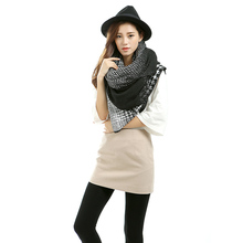 Simple Design Scarf Poncho 2016 New Shawl Scarf Neck Wrap Checked Blanket For Women Fashion Wool Blend Scarf S-013(China (Mainland))