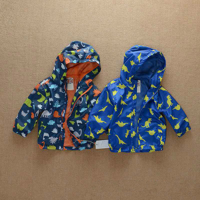 In the spring of 2016 new trade stamp dinosaur Hooded Jacket windbreaker cartoon special offer free shipping<br><br>Aliexpress