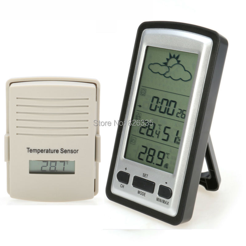 Digital Wireless Indoor Outdoor Thermometer Hygrometer Meter Weather Forecast Station Temperature Humidity Tester