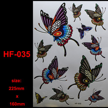 3D Sex Flying butterfly leopard Tattoo Decals Body Art Decal Flying butterfly Waterproof Paper Temporary Tattoo(China (Mainland))