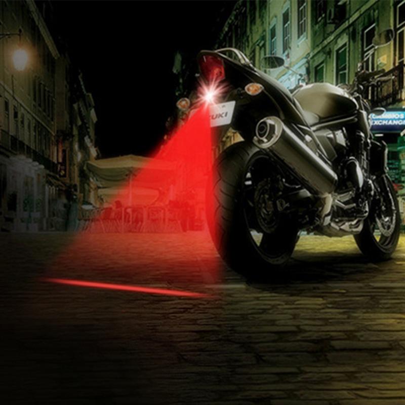 LED Motorcycle Laser Fog Lights Anti Collision Warning Light Rear-end Tail Lamps Motorbike Brake Parking Bulbs Motor Styling(China (Mainland))