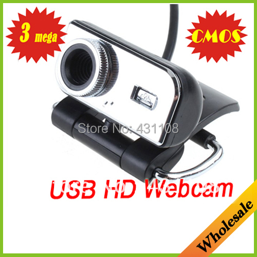 Wholesale Free/Drop shipping 3 Mega USB HD Webcam CMOS PC Camera Video Web Cam HD CMOS for PC laptops & desktops(China (Mainland))