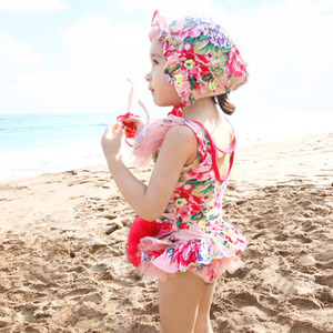 Sandy beach flower girls Cute fashion summer Infants swimwears children climb clothes newborn baby Lace Bikini