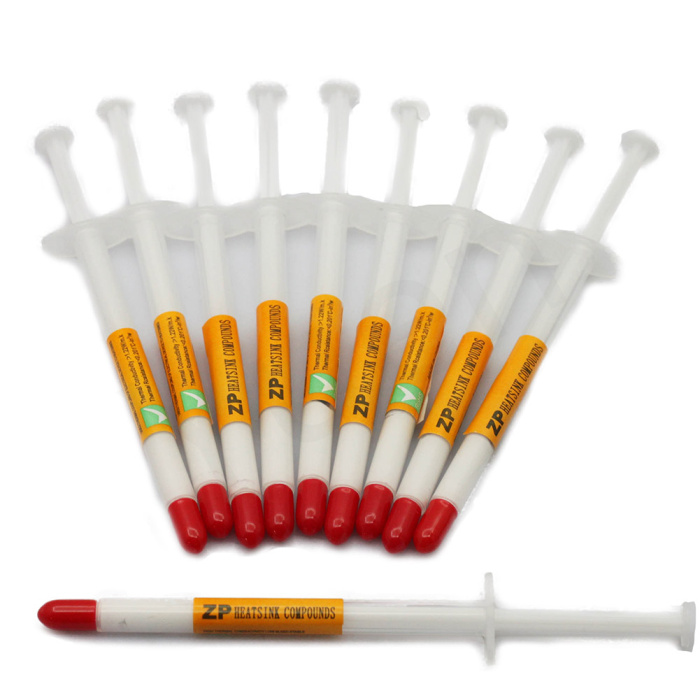 COMPETITIVE PRICE 200pcs/lot FREE SHIPPING Syringe White Silicone Thermal Grease Heatsink Compound Paste CPU GPU VGA #DN035(China (Mainland))