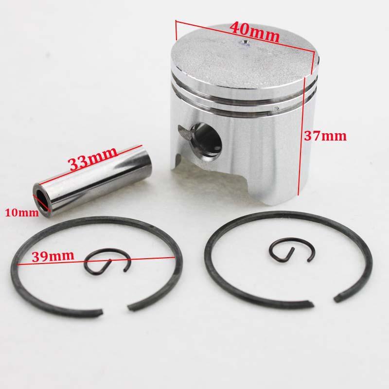 40mm Piston Ring 10mm Pin Set Kit for 2 stroke 47cc Pocket Mini Bike ATV Quad