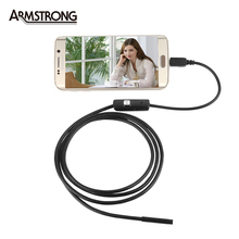 1M Length 7mm lens Android Endoscope inspection Pipe Endoscop  For Android Phone With OTG IP67 Waterproof  with Side Mirrors