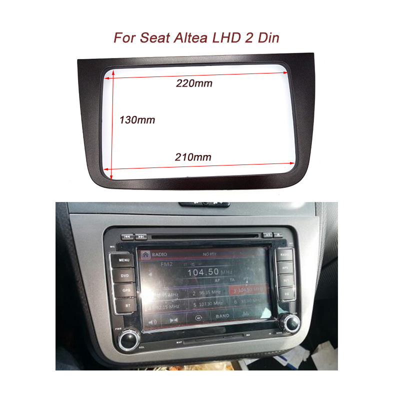 Car Fascia Seat Altea LHD Radio Stereo Dash Mounting Kit Styling Trim Audio Panel Facia Bezel Cover Adaptor - Guangzhou Top Auto Parts Co., Ltd. store