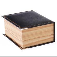 Free shipping top quality faux leather wood grain Cufflinks Box 10pcs/lot cuff link packaging box gift box cufflinks(China (Mainland))