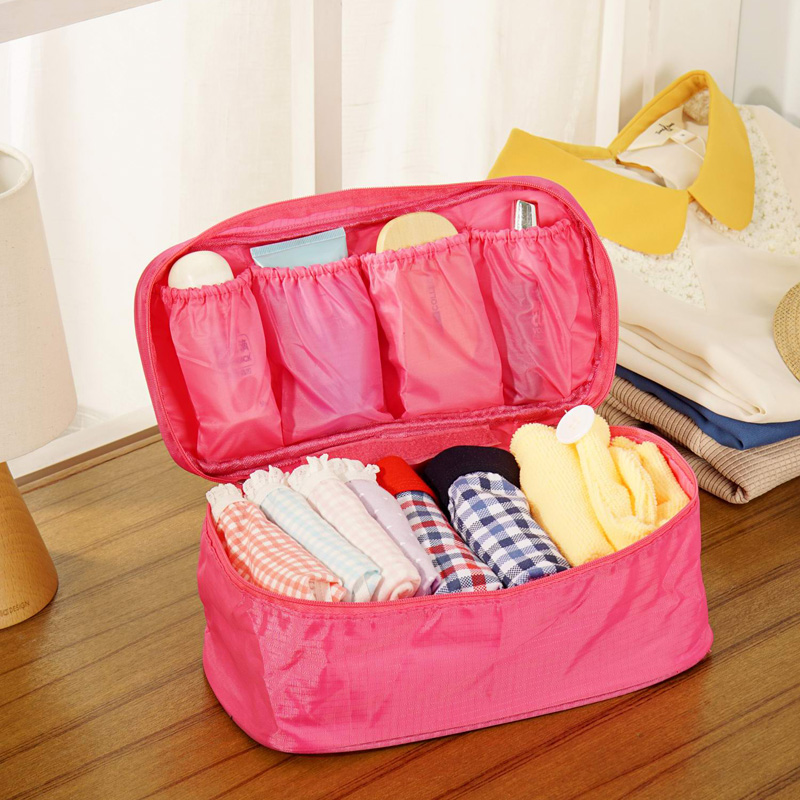 Bra Underwear Lingerie Travel Bag for Women Organizer Trip Handbag Luggage Traveling Bag Pouch Case Suitcase Space Saver Bag(China (Mainland))