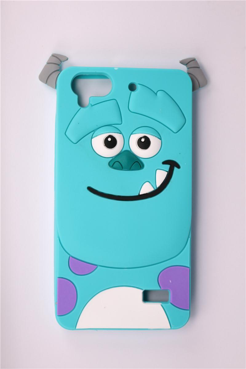 Phone Case Huawei Honor 4C 4 Play C8817E C8817D 3D Lovely Cartoon Blue Sulley Pattern Soft Silicone Back Cover - All the Best Things store