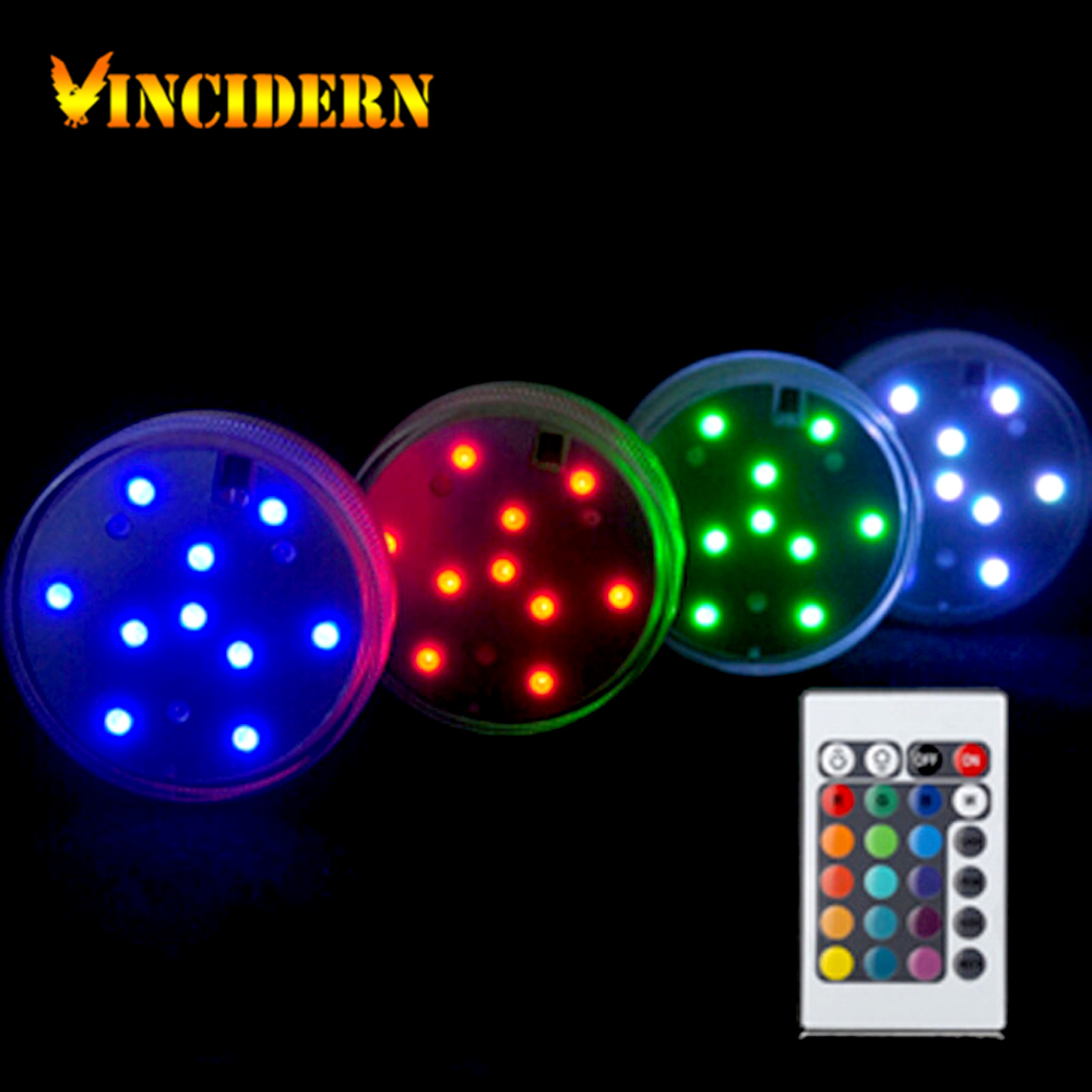 LED Submersible Candle Waterproof Remote Control Multicolor Floral Vase wedding centerpieces candles Party Home Decoration(China (Mainland))