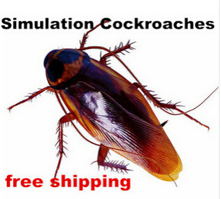 Simulation Cockroaches Rubber Prank Toys 2015 New Halloween Horror Dolls Funny Gadgets Novelty Gift Science Unusual Product(China (Mainland))