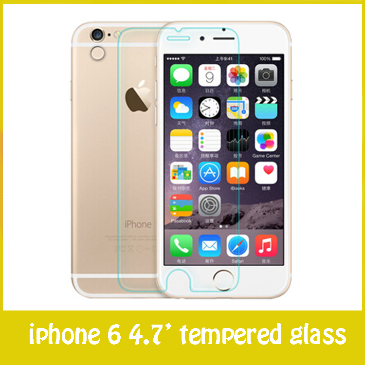 pelicula de vidro screen protector tempered glass for iphone 6 top quality 0.3mm free shipping(China (Mainland))