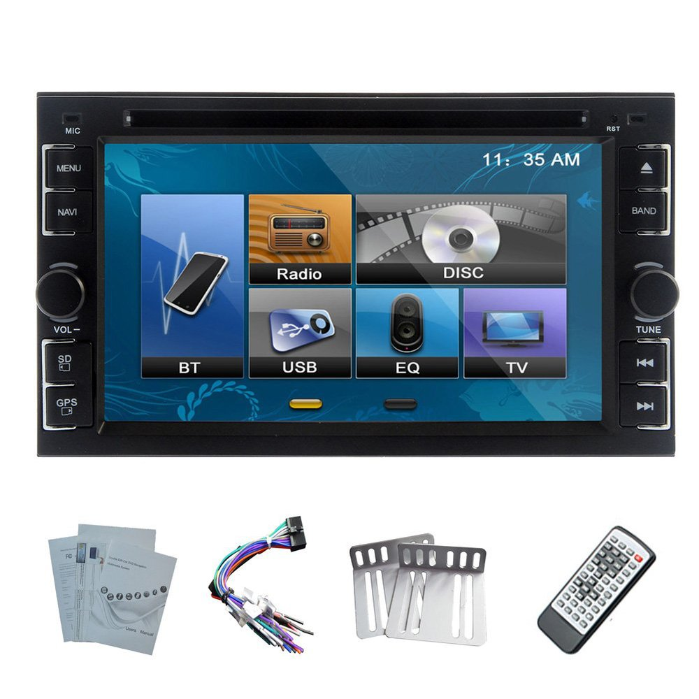 """6.2""""inch Double 2 Din TFT LCD Touch Screen In-Dash Car DVD Player With iPod-Input,Bluetooth,RDS,TV, Video Stereo Audio(China (Mainland))"""
