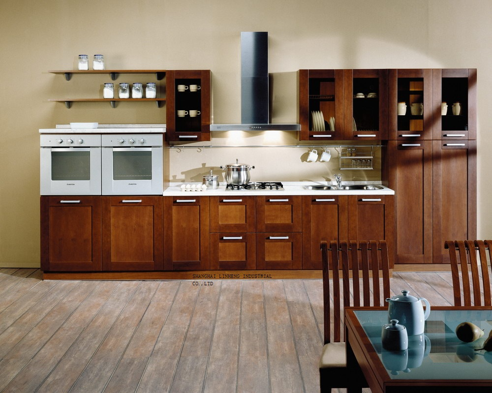 classical coffee glaze maple kitchen cabinets(LH-SW073)(China (Mainland))
