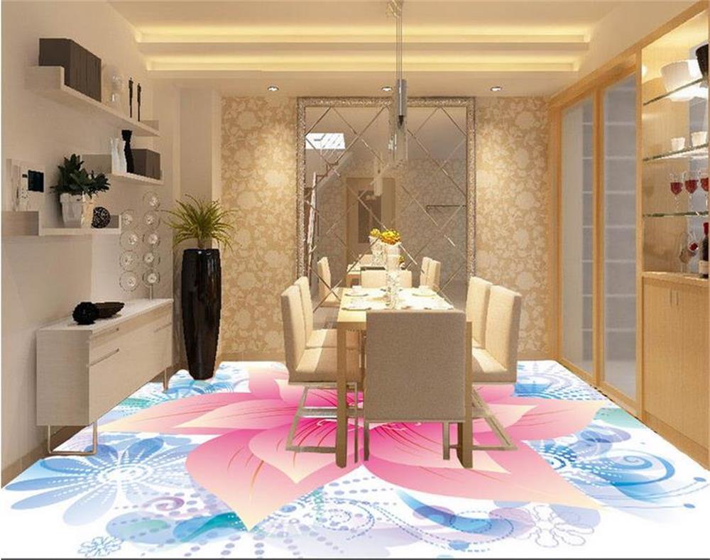 3d wallpaper/mural PVC fooring wallpaper/custom photo HD mural/Super big red flowers/Bathroom/Toilet//hotel/Living Room(China (Mainland))
