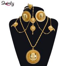 Ethiopian bridal 24K gold plated African jewelry sets HOT/Nigeria/Sudan/Eritrea/Kenya/Habasha style/Wedding set A30029(China (Mainland))
