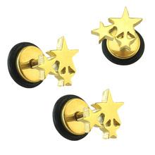 Buy Star Earring Helix Piercing Stud Earring Cute Fashion Earings Stainless Steel Ear Piercing Stud Earrings Women Men Body Jewelry for $1.74 in AliExpress store