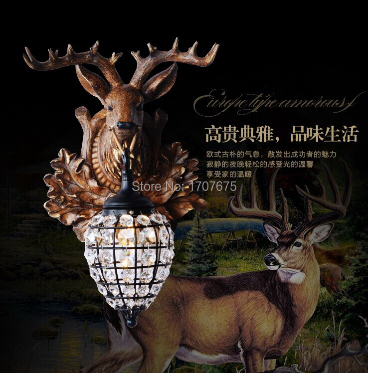 American antlers lamp wall lamp fashion wall lamp deer wall lamp(China (Mainland))