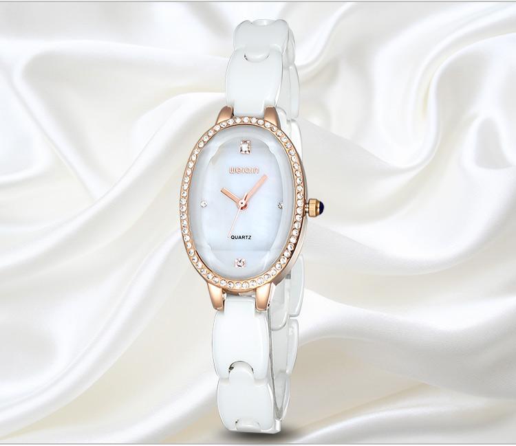 WEIQIN Новая Мода Керамическая Группа Женские Часы Люксовый Бренд Женщины Платье Часы Кварцевые Наручные Часы Atmos Часы Montre Femme
