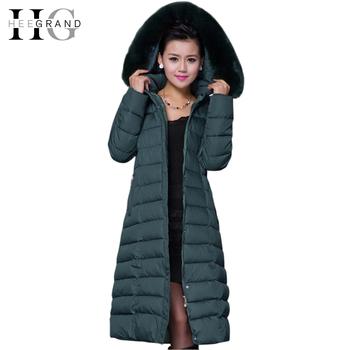 Зима пальто, casaco Feminino капот женщины большие мех воротник пуховик женское парка X - длинная пальто XL-5XL Sobretudo WWD122